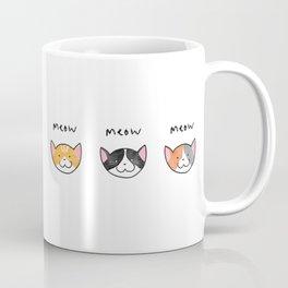 Three Meows. Coffee Mug