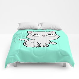 Kitty Knows Sign Language Comforters