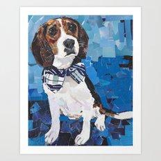 Earl the Hound Pup Art Print
