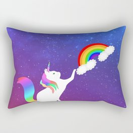 Unicorn Cat Toy Rectangular Pillow