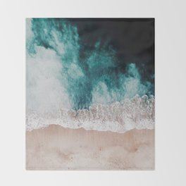 Ocean (Drone Photography) Throw Blanket