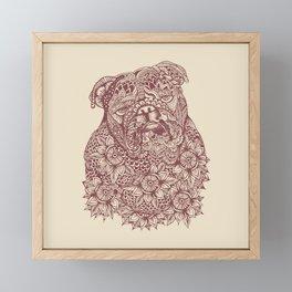 MANDALA OF ENGLISH BULLDOG Framed Mini Art Print