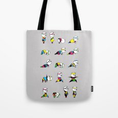 Yoga Bear - 80's Remix Tote Bag