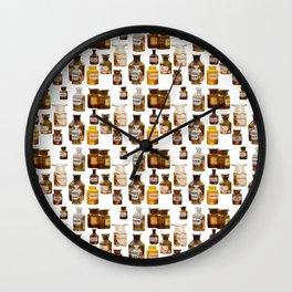 Vintage Chemistry Bottles Wall Clock