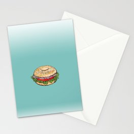 Bagel Sandwich Stationery Cards