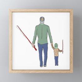 Fishing with Dad Framed Mini Art Print
