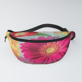 Flowers & Butterfies Abstract Collage Fanny Pack