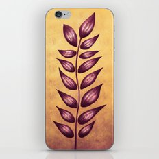 Abstract Plant With Purple Leaves iPhone & iPod Skin