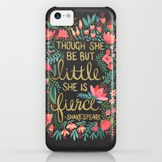 Little & Fierce on Charcoal iPhone 5c Slim Case