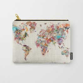 world map watercolor deux Carry-All Pouch