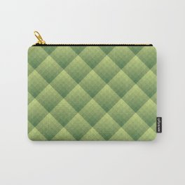 Diamond gradient pattern in green Carry-All Pouch