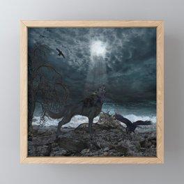 Aweseome wolf Framed Mini Art Print