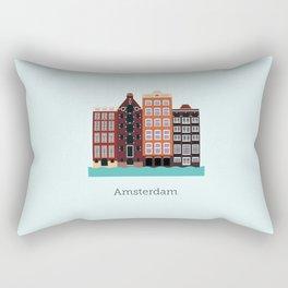 Vector City - Amsterdam Rectangular Pillow