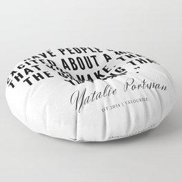 12    | Natalie Portman Quotes | 190721 Floor Pillow