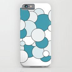 Bubbles - blue, gray and white. Slim Case iPhone 6s