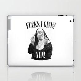 Fucks I Give, Nun, Funny, Quote Laptop & iPad Skin