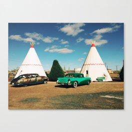 Wigwam Motel Canvas Print