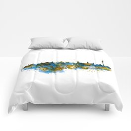Berlin watercolor skyline Comforters