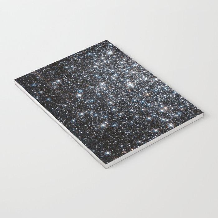 Stars : subtle black blue gold Notebook