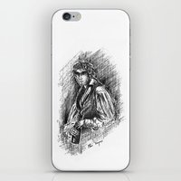grantaire iPhone & iPod Skins featuring Grantaire, III by Flávia Marques