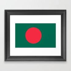 Flag Of Bangladesh Framed Art Print