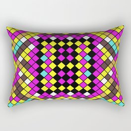 Mosaic X - Abstract, tiled, mosaic, geometric pattern Rectangular Pillow