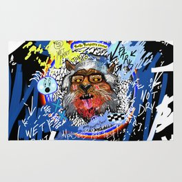 Gee The Party Wolf Remixed Rug