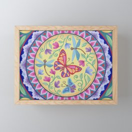Spring Melody Mandala Framed Mini Art Print