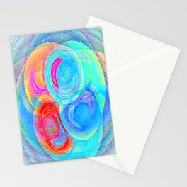abstract planets Stationery Cards