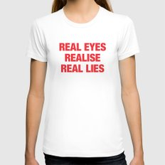 Real X-LARGE White Womens Fitted Tee