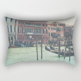 looking along the Grand Canal in Venice Rectangular Pillow