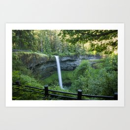 Feel My Waterfall Art Print