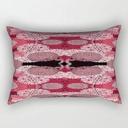 Snowflake in Reds Rectangular Pillow