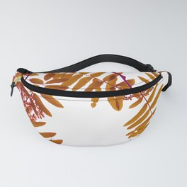 Fall Color Leaves White Background #decor #society6 #buyart Fanny Pack