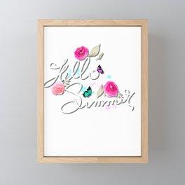 Hello summer illustration Framed Mini Art Print