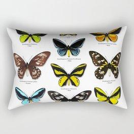 Butterfly012_Ornithoptera Set1 on White Background Rectangular Pillow