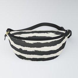 Horizontal Ivory Stripes Fanny Pack