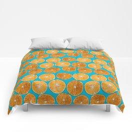 Orange slice Comforters
