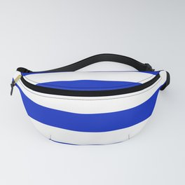 Cobalt Blue and White Wide Cabana Tent Stripe Fanny Pack