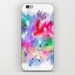 Abstraction flowers patern2 iPhone Skin