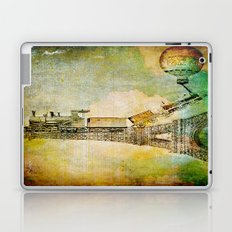 The train on Eiffel Tower Laptop & iPad Skin
