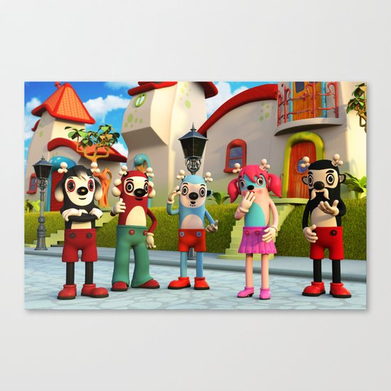 Suzzy and the Gang Canvas Print