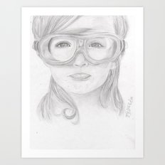 Goggles Girl  Art Print