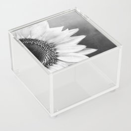 B&W Sunflower Acrylic Box
