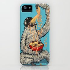 Three Toed Sloth Eating Spaghetti From a Bowl Slim Case iPhone (5, 5s)