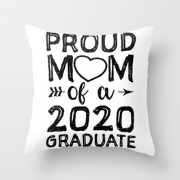 Mom Of A 2020 Graduate Throw Pillow