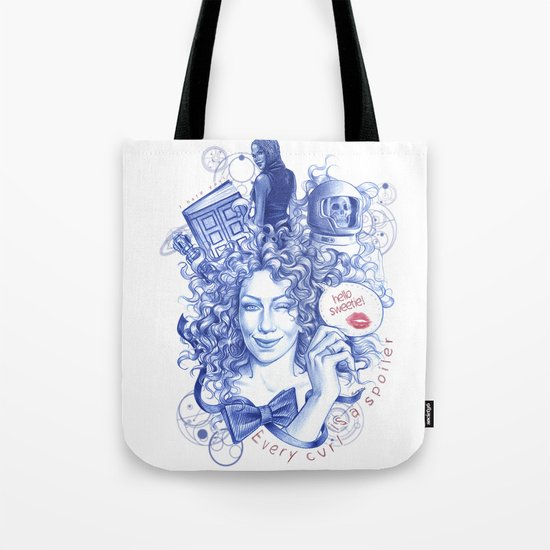 Every Curl Is A Spoiler Tote Bag