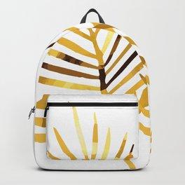 Palm Leaf Illustration white background Backpack