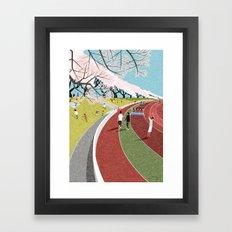 Musashino athletic stadium Framed Art Print