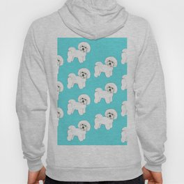 Bichon Frise on aqua / teal / cute dogs/ dog lovers gift Hoody